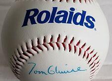 TOM GLAVINE Atlanta Braves Autographed Rolaids 1991 World Series Baseball w/Cube
