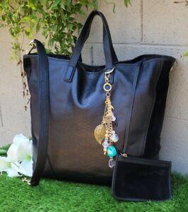COACH ltd Ed exotic XL HADLEY Leather Tote Shoulder Purse overnight Bag 30963