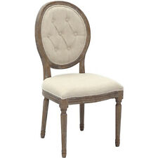 Cream Vintage Farmhouse French Country Mid Century Modern Upholstered Wood