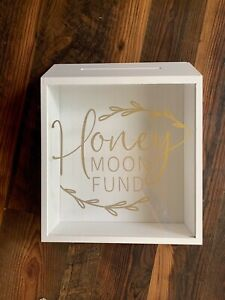 honeymoon fund shadow box wedding