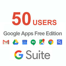 Domain name with Google Apps 50users Licenses ( G Suite Standard Edition )