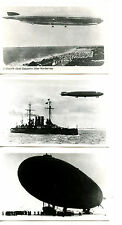 Graf Zeppelin-Blimp-Military Airship-RPPC-Reproduction Real Photo Postcard Lot