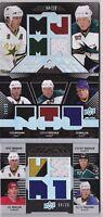 08-09 UD Black Mike Modano Jeremy Roenick Joe Mullen /50 Jersey Trios 2008