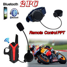 2x Bluetooth Motorcycle Helmet 3KM Group Intercom Headset Walkie Talkie X3 Plus