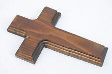 Old Rugged Cross Handmade Pine Wood 7x4.5in Wall Hanging Christian Crucifix 708