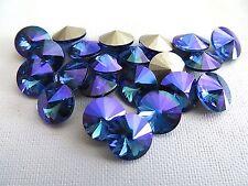 6 Sapphire Glacier Blue Swarovski Crystal Rivoli Stone 1122 39ss 8mm