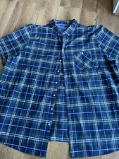 Jacamo Mens Blue Green White Check Shirt ~ 4XL ~ Great Quality Material
