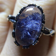 The World's Only Rare Natural Beautiful Blue Dumortierite Crystal ring18112204