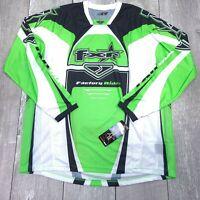 FXR Racing MX Blackshift Jersey Motocross Mens XL Lime Long Sleeve LS122