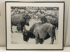 The Pressure of Command 1/100 David Bigelow Framed Signed Etching Buffalo Carrot