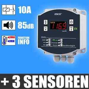 Temperaturüberwachung Gewächshäuse Thermometer 3 fernfühler Temperatur ALARM