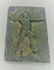 European Finds Ancient Roman Bronze Plaque Depicting Scene Circa 200-300Ad