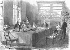 LONDON. Board of Health, Gwydyr House, Whitehall, antique print, 1849