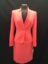TAHARI BY ARTHUR LEVINE  SUIT/CORAL/SIZE 18/RETAIL$280/LINED/SKIRT LENGTH 24