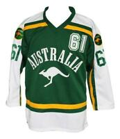 Any Name Number Size Team Australia Custom Retro Hockey Jersey Green