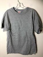 Hanes Men's ComfortSoft Short Sleeve T-Shirt, 6 Pack, Light Steel, Medium