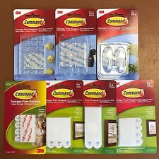 3M COMMAND Strips Hooks Large, Medium, Small Damage Free Picture/Poster Hanging