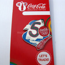 2012 London Summer Olympic Coca Cola Dated 5 Days To Go Pin