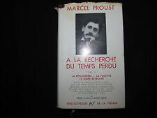 A La Recherche Du Temps Perdu volume III by Marcel Proust 1954 Faux Leather DJ
