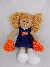 "Collegiate Cheerleader Auburn University Tigers 17"" Handmade Doll"