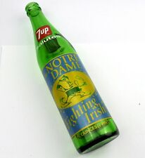 7up Bouteille USA 1973 Notre Pour femme Fighting Irlandais American Football