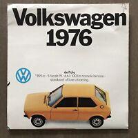 1976 Volkswagen Range original Belgian sales brochure