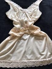 Vintage Littlewoods Pale Peach Nylon Petticoat Slip Chemise Uk 16