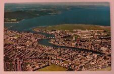 Inverness Scotland Photograph Postcard Aerial View City River Picture Vintage