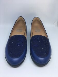 NEW FitFlop Crystal Sneakerloafer Slip-On Shoes WOMENS SZ 7.5 Blue  $98.