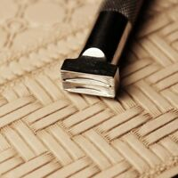 Stainless Steel leather craft weave matte pattern stamping  Stamp  tool  4*8mm