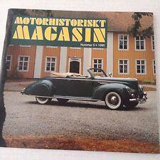 Motorhistoriskt Magasin Magazine Drop Head Coupe No.5 1995 071017nonrh