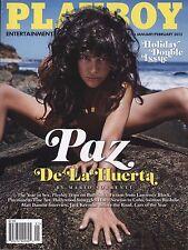 PLAYBOY MAGAZINE JANUARY/FEBRUARY 2013 PAZ DE LA HUERTA, HOLIDAY DOUBLE ISSUE