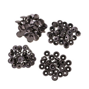 30 Sets Metal Poppers Snap Fasteners Press Stud Sewing Rivet Leather Craft