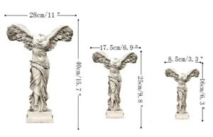 WINGED NIKE GREEK GODDES OF VICTORY RESIN STATUE FIGURINE FOR MODERN HOME DECOR