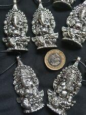 Silver Elephant Ganesha Cord Necklace Ganesha Pendant Buddha Chakra Charm