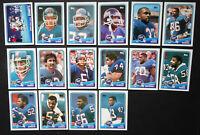 1988 Topps New York Giants Team Set of 16 Football Cards