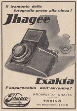 Z3966 Macchina fotografica Jhagee Exacta - Pubblicità d'epoca - 1933 advertising