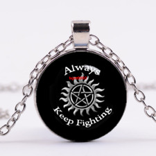 supernatural Cabochon Tibetan silver Glass Chain Necklace,Jewelry
