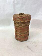 Split Ash Yarn Basket, Northeast First Nations, Possibly Mi'kmaq (MicMac)