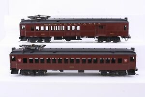 Alco Models Brass HO Scale Pennsylvania Railroad MU Cars MP-54 2 Car Set