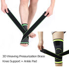 Hot 3D Weaving Pressurization Brace Knee Support Ankle Support Sports Pad Set