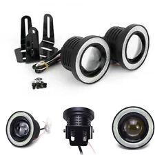 "2x 3.5"" COB LED Fog Light Projector Car White Angel Eye Halo Ring DRL Lamp Hot"
