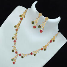 Indian Pakistani Bollywood American Diamond Necklace Multi Gold Tone Party Wear