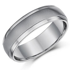 Titanium Matt & Polished Wedding Engagement Ring 6mm Band Men's/Ladies Band