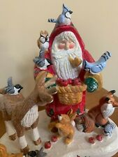 New ListingHouse Of Hatten-Santa Clause & Reindeer-Winter Solstice, Denise Calla-w/Tag-2002