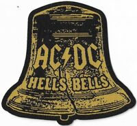 Official Merch Woven Sew-on PATCH Heavy Metal Rock AC/DC Hells Bells Cut-out