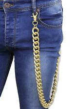 Men Gold Long Fashion Jeans Wallet Thick Chains Metal Chunky Links Trucker Biker