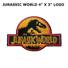 Jurassic Park World Logo Embroidered Patch, NEW UNUSED US SELLER