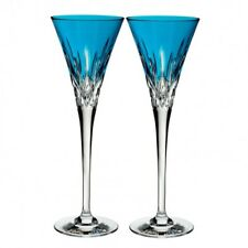 Waterford Lismore Pops Aqua Toasting Flute - Set of 4