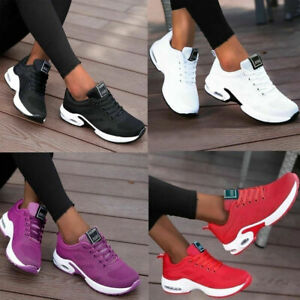 WOMENS LADIES RUNNING TRAINERS SPORTS SNEAKERS KNIT LACE UP WOMEN SHOES SIZE
